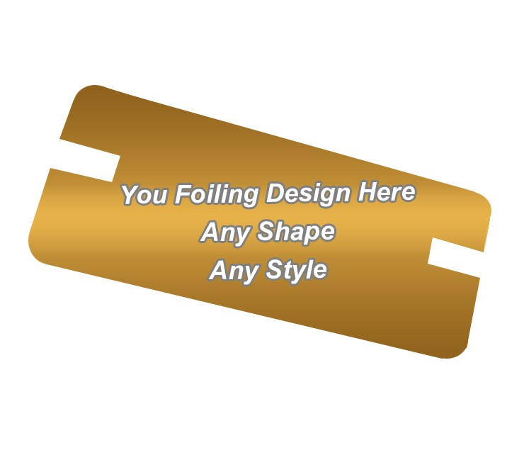 Golden Foiling - Backing Card Printing